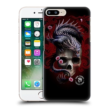 Official Anne Stokes Oriental Skull Red Dragon Swirls Hard Back Case For Apple Iphone 7 Plus