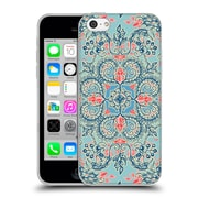 Official Micklyn Le Feuvre Floral Patterns Red And Blue Soft Gel Case For Apple Iphone 5C