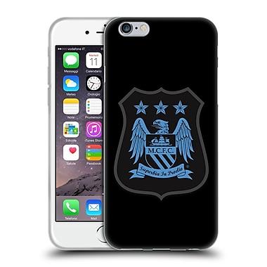 Official Manchester City Man City Fc Crest Kit Mono Blue Soft Gel Case For Apple Iphone 6 / 6S
