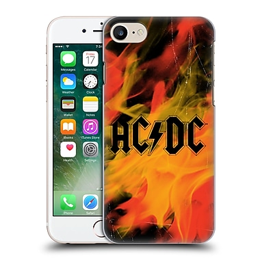 Official Ac/Dc Acdc Logo Flame Hard Back Case For Apple Iphone 7