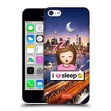 Official Emoji Photo Graphic I Love Sleep Hard Back Case For Apple Iphone 5C