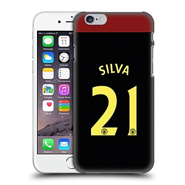 Official Manchester City Man City Fc Away Kit 2016/17 2 Silva Hard Back Case For Apple Iphone 6 / 6S