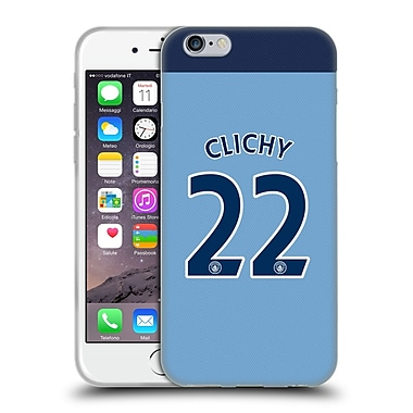 Official Manchester City Man City Fc Player Home Kit 2016/17 Group 1 Clichy Soft Gel Case For Apple Iphone 6 / 6S