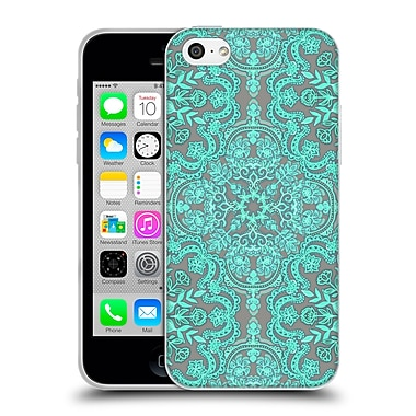 Official Micklyn Le Feuvre Floral Patterns Mint Green And Grey Soft Gel Case For Apple Iphone 5C