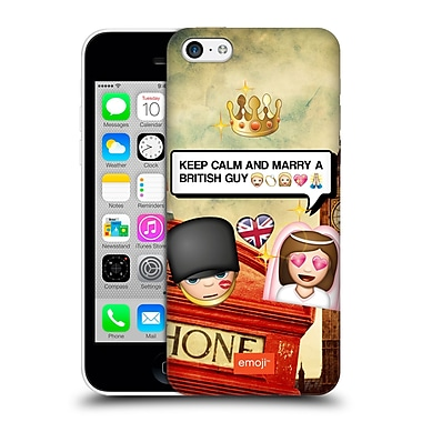 Official Emoji Photo Graphic British Guy Hard Back Case For Apple Iphone 5C