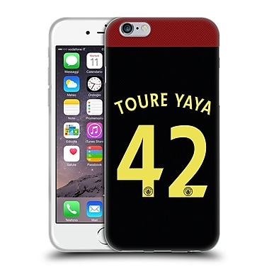 Official Manchester City Man City Fc Away Kit 2016/17 2 Toure Soft Gel Case For Apple Iphone 6 / 6S