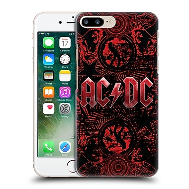 Official Ac/Dc Acdc Logo Ornate Red Hard Back Case For Apple Iphone 7 Plus