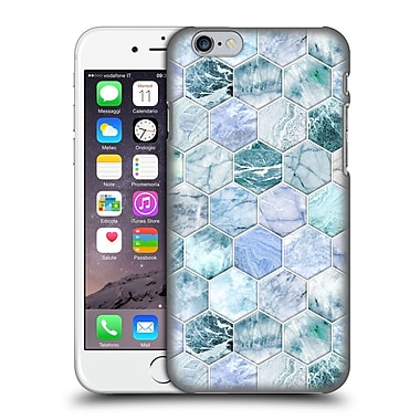 Official Micklyn Le Feuvre Marble Patterns Ice Blue And Jade Stone And Hexagon Tiles Hard Back Case For Apple Iphone 6 / 6S