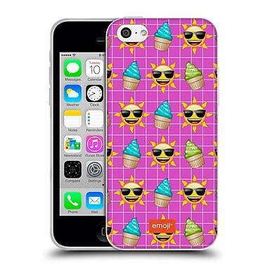 Official Emoji Happy Summer Pattern Soft Gel Case For Apple Iphone 5C