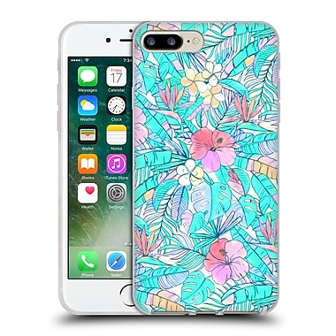 Official Micklyn Le Feuvre Florals Pretty Pastel Hawaiian Soft Gel Case For Apple Iphone 7 Plus