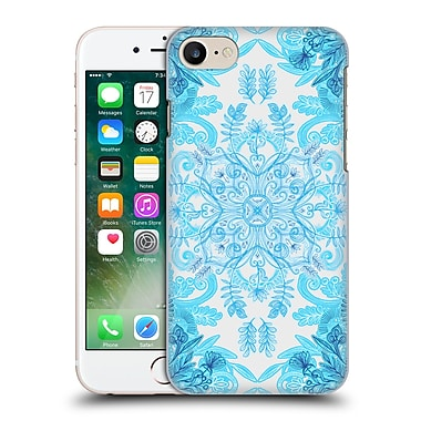 Official Micklyn Le Feuvre Mandala 2 Symmetrical Pattern In Turquoise And Blue Hard Back Case For Apple Iphone 7