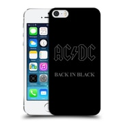 Official Ac/Dc Acdc Album Cover Back In Black Hard Back Case For Apple Iphone 5 / 5S / Se