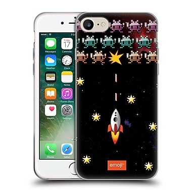 Official Emoji Space Invaders Soft Gel Case For Apple Iphone 7