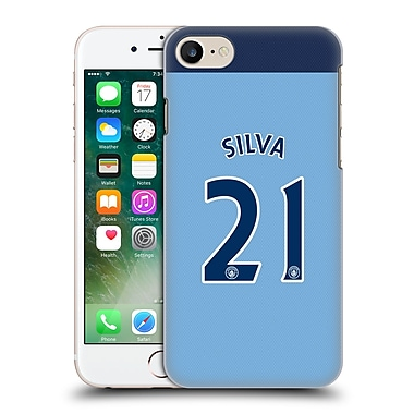Official Manchester City Man City Fc Player Home Kit 2016/17 Group 2 Silva Hard Back Case For Apple Iphone 7
