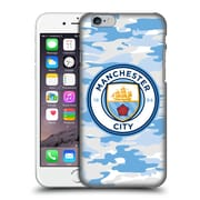Official Manchester City Man City Fc Badge Camou Light Blue Moon Hard Back Case For Apple Iphone 6 / 6S