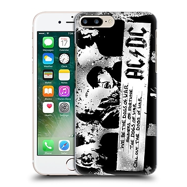 Official Ac/Dc Acdc Lyrics Dogs Of War Hard Back Case For Apple Iphone 7 Plus