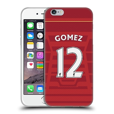 Official Liverpool Football Club Players Home Kit 16/17 Group 2 Gomez Soft Gel Case For Apple Iphone 6 / 6S
