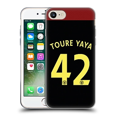 Official Manchester City Man City Fc Away Kit 2016/17 2 Toure Soft Gel Case For Apple Iphone 7