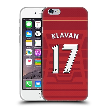 Official Liverpool Football Club Players Home Kit 16/17 Group 1 Klavan Soft Gel Case For Apple Iphone 6 / 6S
