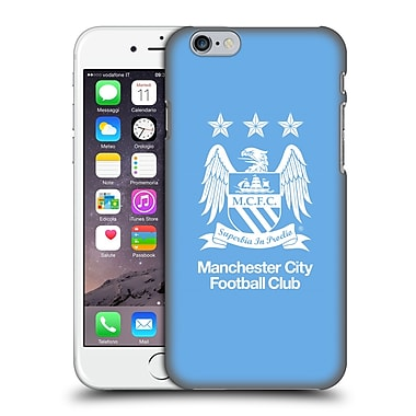 Official Manchester City Man City Fc Crest Full White On Sky Blue Hard Back Case For Apple Iphone 6 / 6S