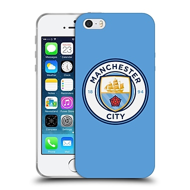Official Manchester City Man City Fc Badge Blue Full Colour Soft Gel Case For Apple Iphone 5 / 5S / Se