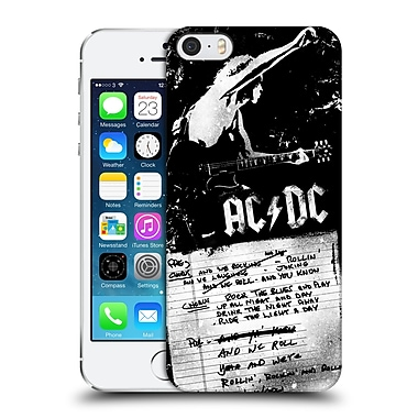 Official Ac/Dc Acdc Lyrics We Rock It And We Roll It Hard Back Case For Apple Iphone 5 / 5S / Se