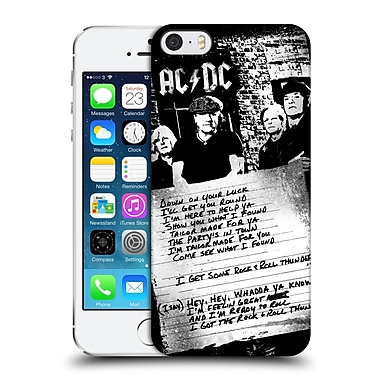 Official Ac/Dc Acdc Lyrics Got Some Rock And Roll Thunder Hard Back Case For Apple Iphone 5 / 5S / Se