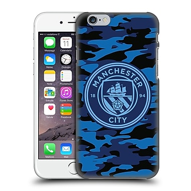 Official Manchester City Man City Fc Badge Camou Dark Blue Moon Mono Hard Back Case For Apple Iphone 6 / 6S