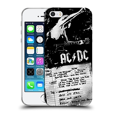 Official Ac/Dc Acdc Lyrics We Rock It And We Roll It Soft Gel Case For Apple Iphone 5 / 5S / Se