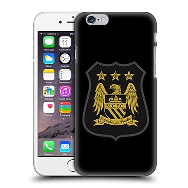 Official Manchester City Man City Fc Crest Kit Mono Gold Hard Back Case For Apple Iphone 6 / 6S