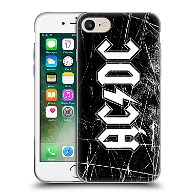 Official Ac/Dc Acdc Logo White Grunge Soft Gel Case For Apple Iphone 7