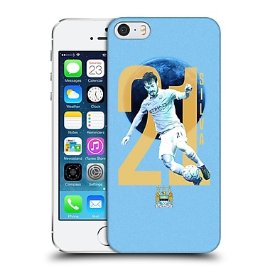 Official Manchester City Man City Fc Players David Silva Hard Back Case For Apple Iphone 5 / 5S / Se
