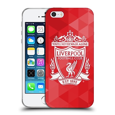 Official Liverpool Football Club Crest 1 Red Geometric 2 Soft Gel Case For Apple Iphone 5 / 5S / Se