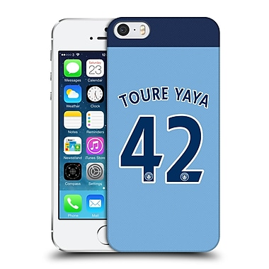Official Manchester City Man City Fc Player Home Kit 2016/17 Group 2 Toure Hard Back Case For Apple Iphone 5 / 5S / Se