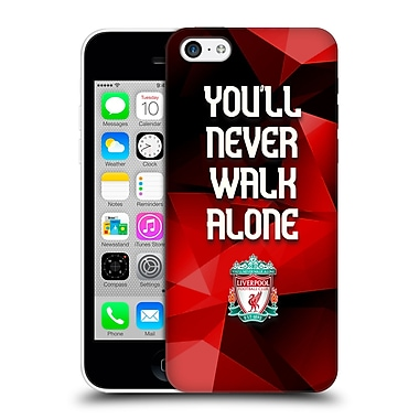 Official Liverpool Football Club Crest Never Walk Alone Red Geo Plain Hard Back Case For Apple Iphone 5C