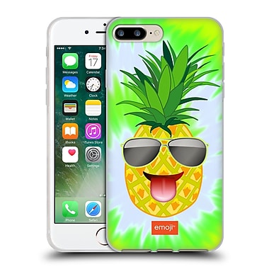 Official Emoji Happy Summer Pineapple Soft Gel Case For Apple Iphone 7 Plus