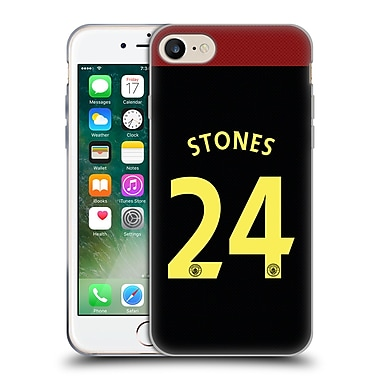 Official Manchester City Man City Fc Away Kit 2016/17 1 Stones Soft Gel Case For Apple Iphone 7