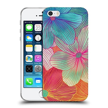 Official Micklyn Le Feuvre Florals 2 Tropical Flowers In Pink Orange Soft Gel Case For Apple Iphone 5 / 5S / Se