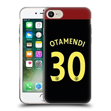 Official Manchester City Man City Fc Away Kit 2016/17 1 Otamendi Soft Gel Case For Apple Iphone 7