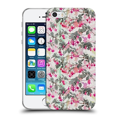 Official Micklyn Le Feuvre Florals 2 Rainbow Fuchsia Floral Pattern Soft Gel Case For Apple Iphone 5 / 5S / Se
