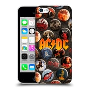 Official Ac/Dc Acdc Button Pins Logo Hard Back Case For Apple Iphone 5C