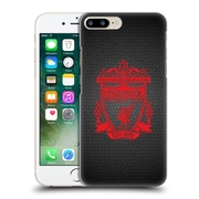 Official Liverpool Football Club Crest 2 Black Pixel 2 Hard Back Case For Apple Iphone 7 Plus