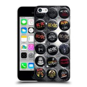 Official Ac/Dc Acdc Button Pins Songs Hard Back Case For Apple Iphone 5C