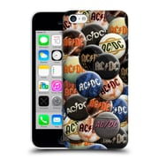 Official Ac/Dc Acdc Button Pins Multicolour Hard Back Case For Apple Iphone 5C