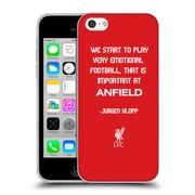 Official Liverpool Football Club Klopp Quotes Emotional Football Soft Gel Case For Apple Iphone 5C