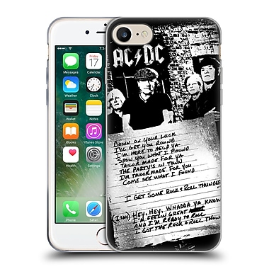 Official Ac/Dc Acdc Lyrics Got Some Rock And Roll Thunder Soft Gel Case For Apple Iphone 7