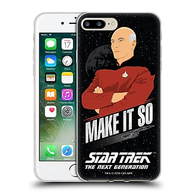 Official Star Trek Iconic Phrases Tng Make It So Picard Soft Gel Case For Apple Iphone 7 Plus