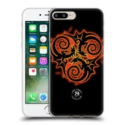 Official Anne Stokes Fire Tribal Triple Dragon Soft Gel Case For Apple Iphone 7 Plus