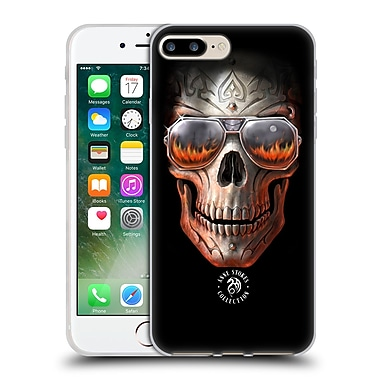 Official Anne Stokes Fire Tribal Skull Soft Gel Case For Apple Iphone 7 Plus