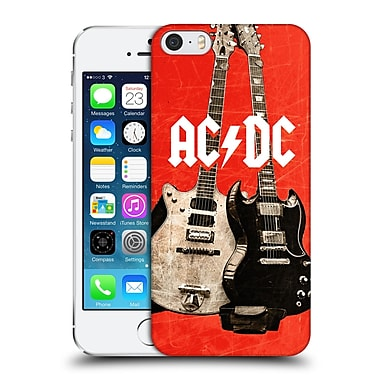 Official Ac/Dc Acdc Iconic Rock Guitars Hard Back Case For Apple Iphone 5 / 5S / Se
